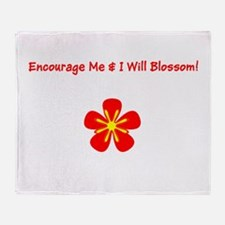 Autism Encourage Me I Will Blossom! Throw Blanket