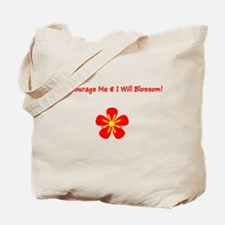 Autism Encourage Me I Will Blossom! Tote Bag