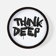 Think Deep Wall Clock