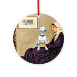 Mom's Bull Terrier (#1) Ornament (Round)