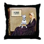 Mom's Bull Terrier (#1) Throw Pillow