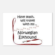 Elkhound Travel Leash Postcards (Package of 8)