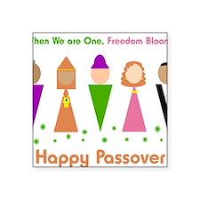 "Jewish Diversity Passover Square Sticker 3"" x 3"""