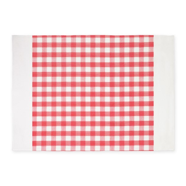 Gingham Rug: Red Gingham 5'x7'Area Rug By InspirationzStore