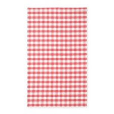Red Gingham 3'x5' Area Rug