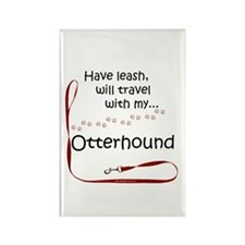 Otterhound Travel Leash Rectangle Magnet