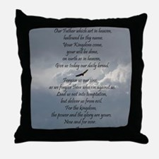 The Lords Prayer with Eagle Throw Pillow