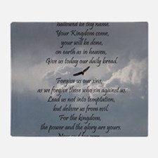 The Lords Prayer with Eagle Throw Blanket