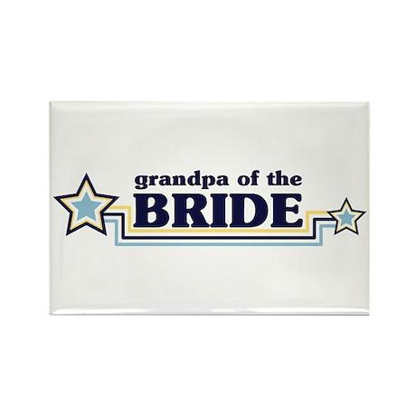 Grandpa of the Bride Rectangle Magnet