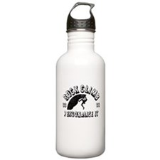 Personalized Rock Clim Water Bottle