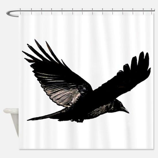 Bird Flying Bathroom Shower Curtain