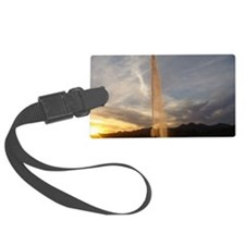 Fountain Sunset Luggage Tag