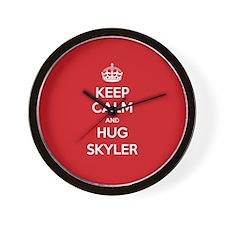 Hug Skyler Wall Clock