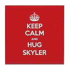 Hug Skyler Tile Coaster