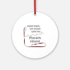 Pharaoh Travel Leash Ornament (Round)