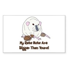 Russian Blue Siamese Nuts Rectangle Decal
