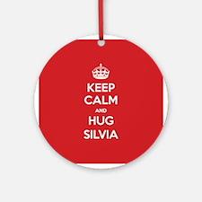 Hug Silvia Ornament (Round)