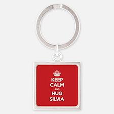 Hug Silvia Keychains