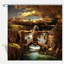 Mithycal Mountains Shower Curtain