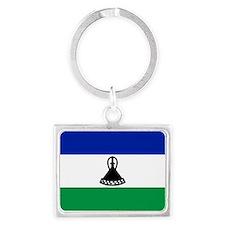 Flag of Lesotho Landscape Keychain