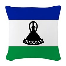 Flag of Lesotho Woven Throw Pillow
