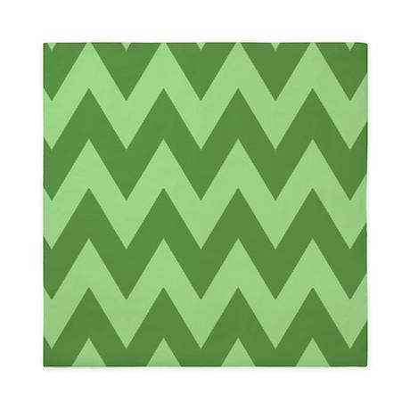 Mint Green Zig Zag Chevron Pattern Queen Duvet By Thetestshop