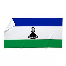 Flag of Lesotho Beach Towel