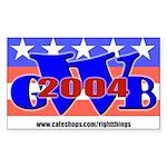 George W Bush '04 Rectangle Sticker