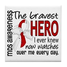 MDS Bravest Hero Tile Coaster