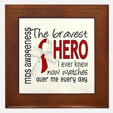 MDS Bravest Hero Framed Tile
