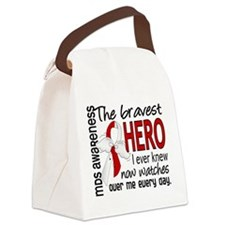 MDS Bravest Hero Canvas Lunch Bag