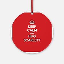 Hug Scarlett Ornament (Round)