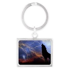 lighting wolf Landscape Keychain