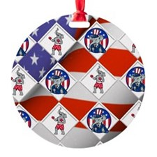 Republican Elephant Boxing Champ Ornament