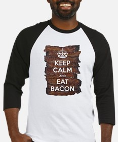 Keep Calm Eat Bacon Baseball Jersey