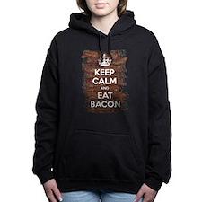Keep Calm Eat Bacon Hooded Sweatshirt