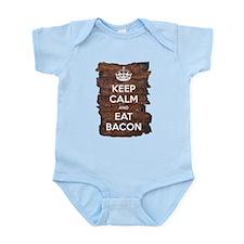 Keep Calm Eat Bacon Infant Bodysuit