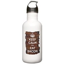 Keep Calm Eat Bacon Water Bottle