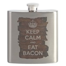 Keep Calm Eat Bacon Flask