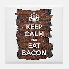 Keep Calm Eat Bacon Tile Coaster