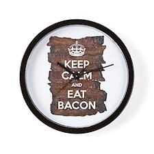 Keep Calm Eat Bacon Wall Clock
