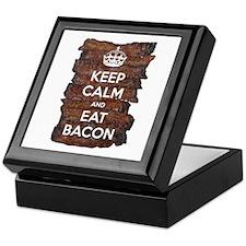 Keep Calm Eat Bacon Keepsake Box