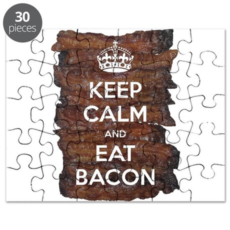 Keep Calm Eat Bacon Puzzle