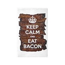 Keep Calm Eat Bacon 3'x5' Area Rug