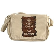 Keep Calm Eat Bacon Messenger Bag