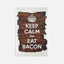 Keep Calm Eat Bacon Rectangle Magnet