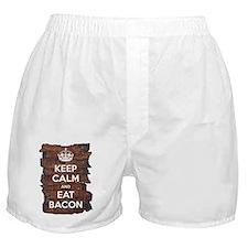 Keep Calm Eat Bacon Boxer Shorts