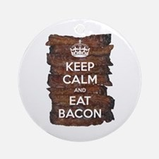 Keep Calm Eat Bacon Ornament (Round)