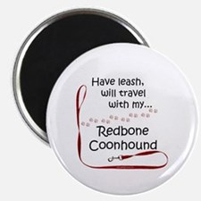 Coonhound Travel Leash Magnet