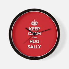 Hug Sally Wall Clock